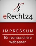 Impressum mit dem Impressum-Generator von eRecht24 generiert by blumhoff-media.com (Agenturmitglied)